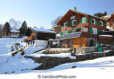 suisse, printemps, alpes