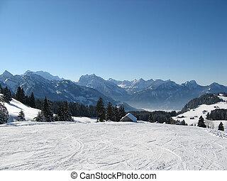 suisse, ski, alpes