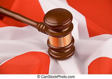 suisse, tribunal, drapeau, marteau