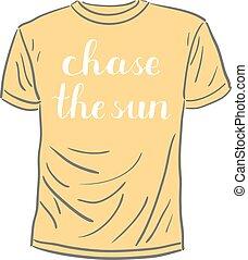 sun., lettering., brosse, chasse