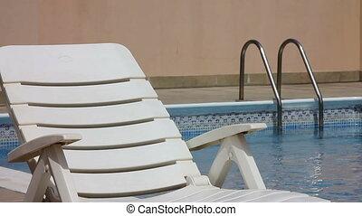 sunbed, piscine, natation