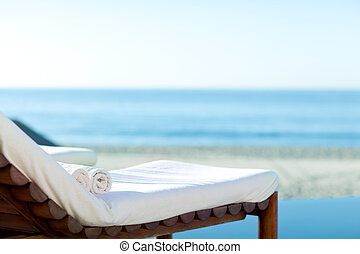 sunbed, plage