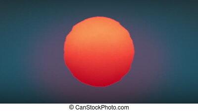 sunset-sunrise, 4096x2160, looped., soleil, énorme, au-dessus, horizon, hd, animation, chaud, gros plan, ultra, grand, chaud, beau, incandescent, seamless., rouges, déformation, 4k