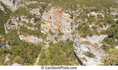 supérieur, évalué, -, pyrénées, rio, version, vero, canyon, barranco, portiacha, espagne