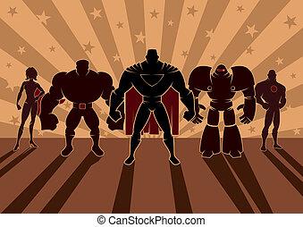 superhero, équipe