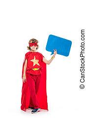 superhero, parole, vide, bulle