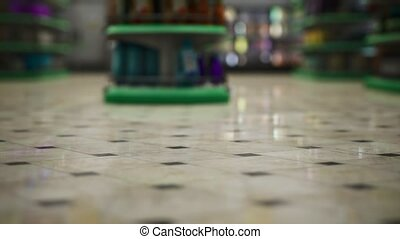 supermarché, vide, épidémie, covid-19