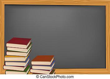 supplies., école, tableau noir