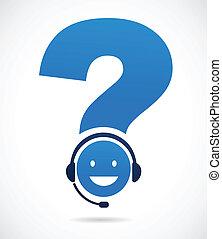 support client, point interrogation
