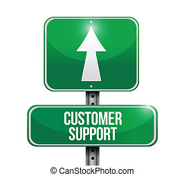 support client, signpost., illustration