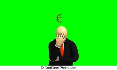 sur, argent, pensée, 3d-man