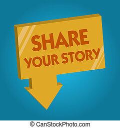 sur, concept, mot, business, texte, part, vie, écriture, écrire, quelqu'un, story., demander, lui-même, ton, biographie
