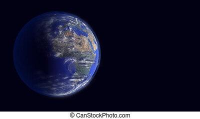sur, orbite, océan