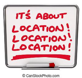 sur, secteur, destination, tache, tout, endroit, emplacement, sien, mieux