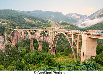 sur, tara, pont, rivière