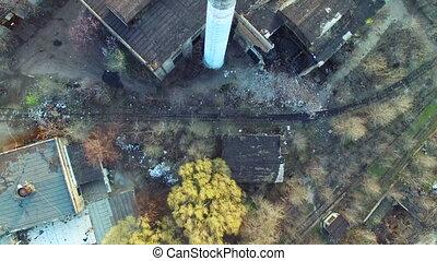 sur, voler, usine, abandonnés