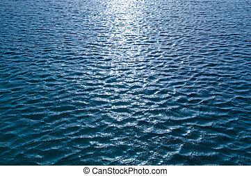 surface, soleil, eau, éclat, reflet