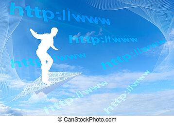surfer, internet