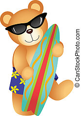 surfer, ours, teddy