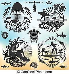 surfeur, ressac, fetes