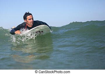 surfeur, vague