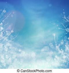 surgelé, hiver, fond