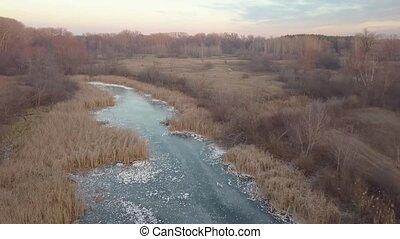 surgelé, rivière