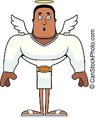 surpris, dessin animé, ange