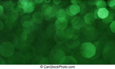 surréaliste, vibrant, rêveur, transitions, fond, vert, glares., overlays