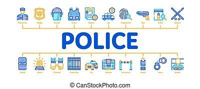 surveiller service, infographic, bannière, vecteur, minimal