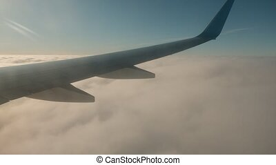 survoler, couverture, jeûne, sommet, nuage