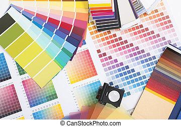 swatches, concepteur, coloré