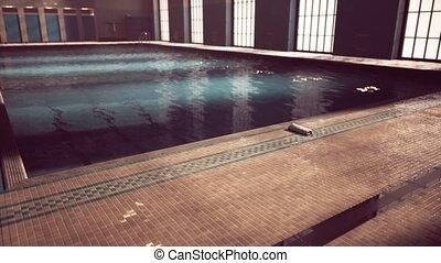 swiming, concurrence, vide, piscine