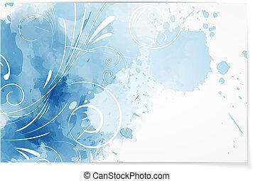 swirly, aquarelle, résumé, fond