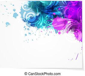 swirly, conception moderne abstraite, fond