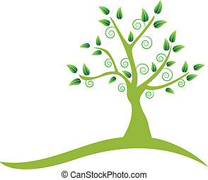 swirly, logo, arbre