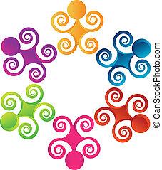 swirly, logo, collaboration, gens