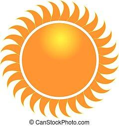swirly, rayons soleil, icône, logo