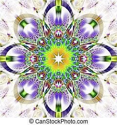 symétrique, -, brillant, rhi, modèle, fractal, collection, strips.