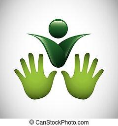 symbole, écologie, isolé, icône