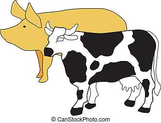 symbole, élevage, bétail