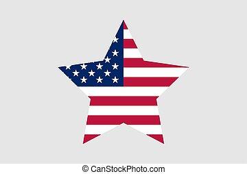 symbole, étoile, icône, drapeau etats-unis