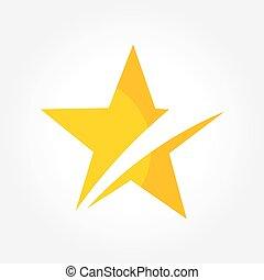 symbole, étoile, jaune