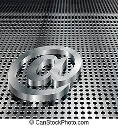 symbole, 3d, métallique