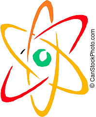 symbole., atome, vector.