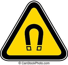symbole, avertissement, triangulaire, danger
