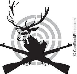 symbole, chasse, cerf