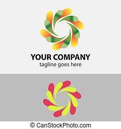 symbole, circulaire, logo, icône, élément