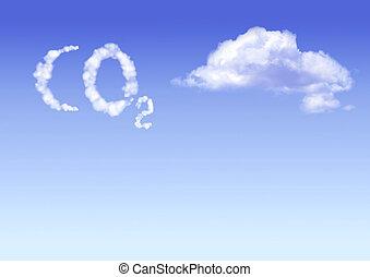 symbole, co2, nuages