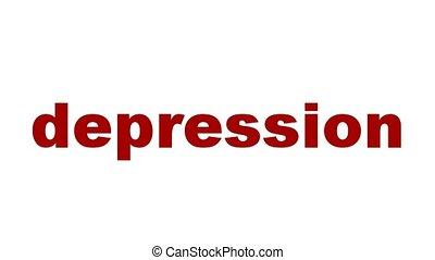 symbole, concept, dépression
